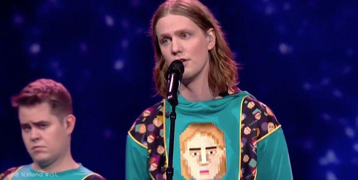 Islandia, durante uno de los ensayos en Eurovisión 2021.