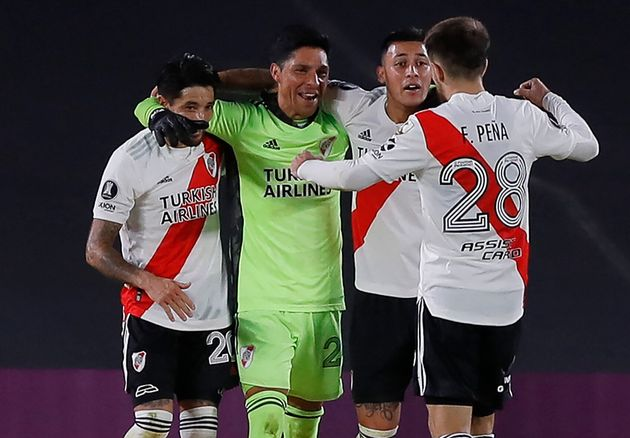Enzo Perez, gardien de but lors de la rencontre de Copa Libertadores face aux Colombiens de Santa Fe,...