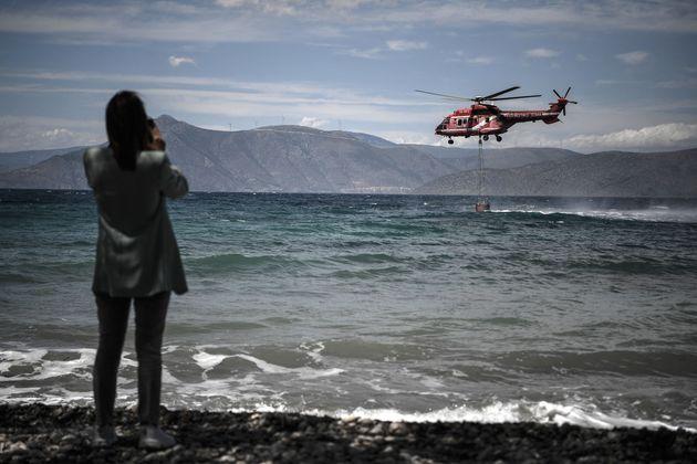 20 Μαϊου 2021. Ελικόπτερο...