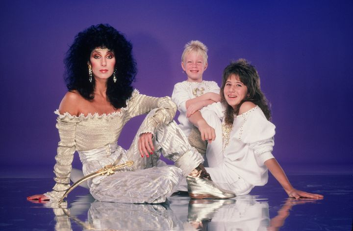 Cher and her children in 1981.