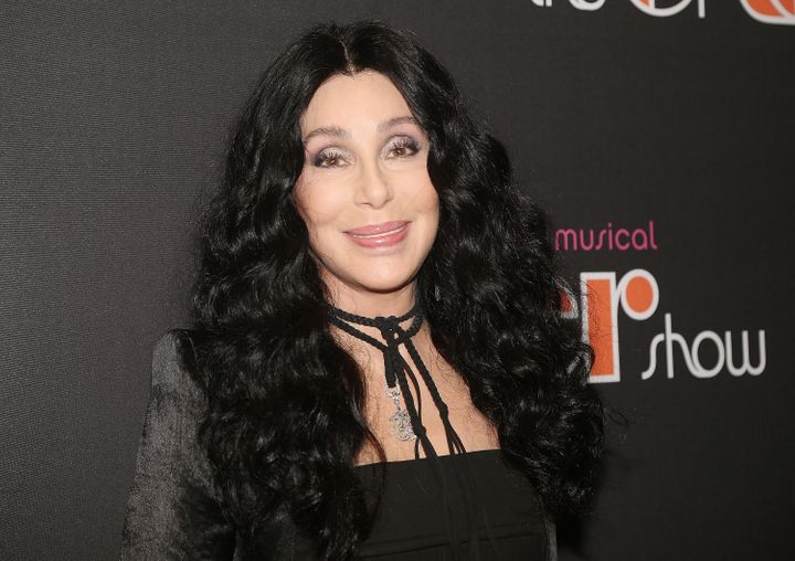 """Cher poses in 2018 at the opening night of the musical """"The Cher Show"""" on Broadway at the Neil Simon Theatre in New York City."""