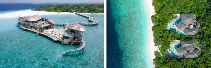 El resort desde el aire.