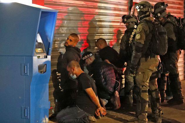 Detenciones de árabes israelíes en Lod, el pasado 13 de