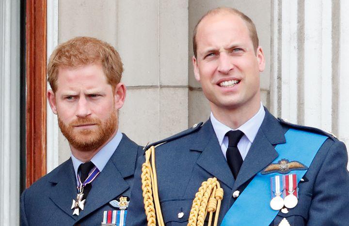 Harry y Guillermo en el centenario de la RAF en julio de 2018.