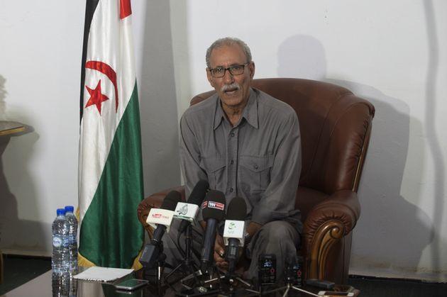 Brahim Ghali, secretario general del Frente Polisario, la organización que persigue la autodeterminación...