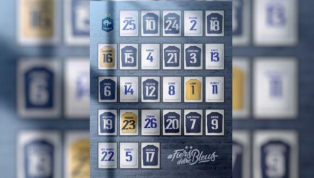 Voici les numéros que porteront les joueurs de l'équipe de France de football à