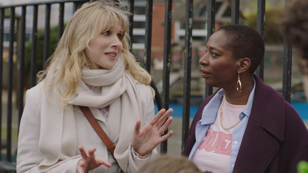 Tanya with Lucy Punch, who plays
