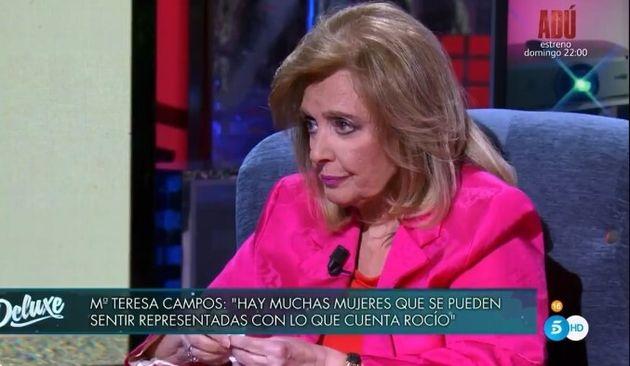 María Teresa Campos, durante su entrevista en 'Viernes
