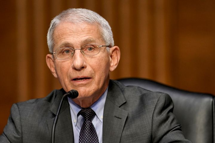 Dr. Anthony Fauci, director of the National Institute of Allergy and Infectious Diseases, speaks during a Senate committee he