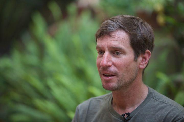Mountain guide Lukas Furtenbach speaks to The Associated Press in Kathmandu, Nepal, Saturday, May 22, 2021. (AP Photo/Bikram