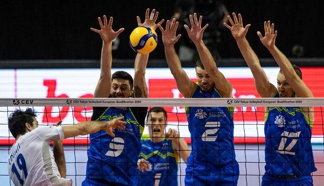 L'équipe de France de Volley, face à la Slovénie, le 9 janvier
