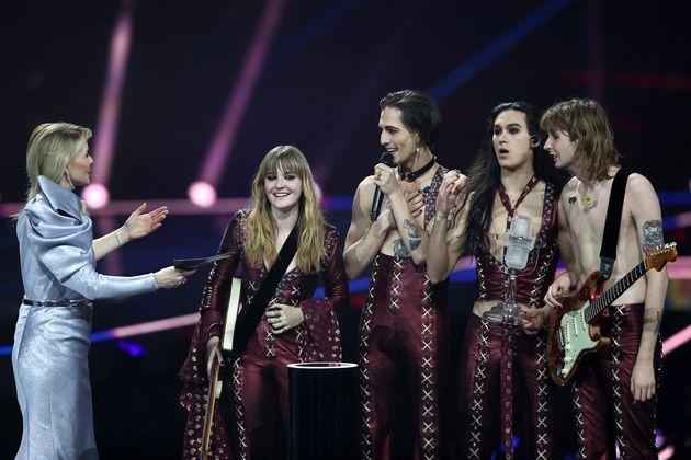 Italian rockers Måneskin won this year's