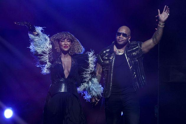 US rapper Flo Rida joined Senhit on