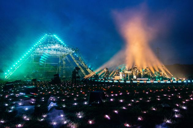 The virtual event saw acts playing from the fields of