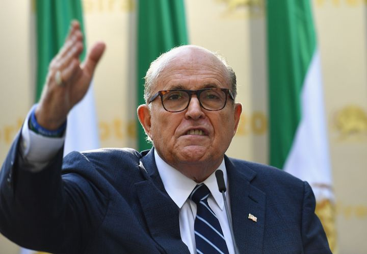 """<a href=""""https://www.huffpost.com/news/topic/rudy-giuliani"""" target=""""_blank"""">Rudy Giuliani</a>&nbsp;reportedly called an <a hr"""