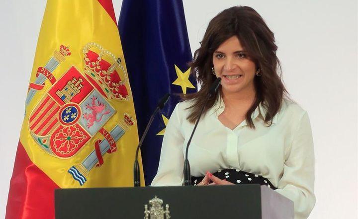 La escritora Ana Iris Simón, autora de 'Feria' en la presentación 'Pueblos con futuro'.