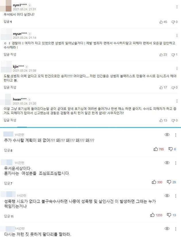 해당 내용 다룬 포털 기사에 네티즌