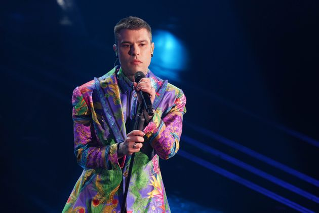 Fedez at the last evening of the 71 Sanremo Music Festival. Sanremo (Italy), March 6th, 2021 (Photo by...