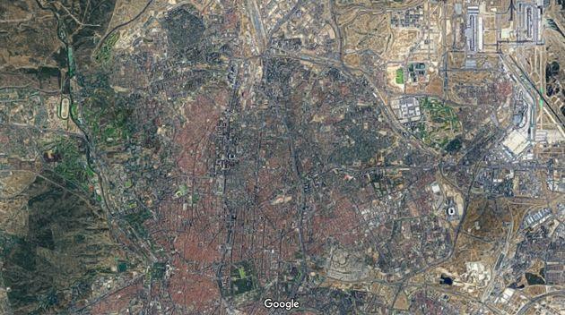 Imagen aérea de Madrid de