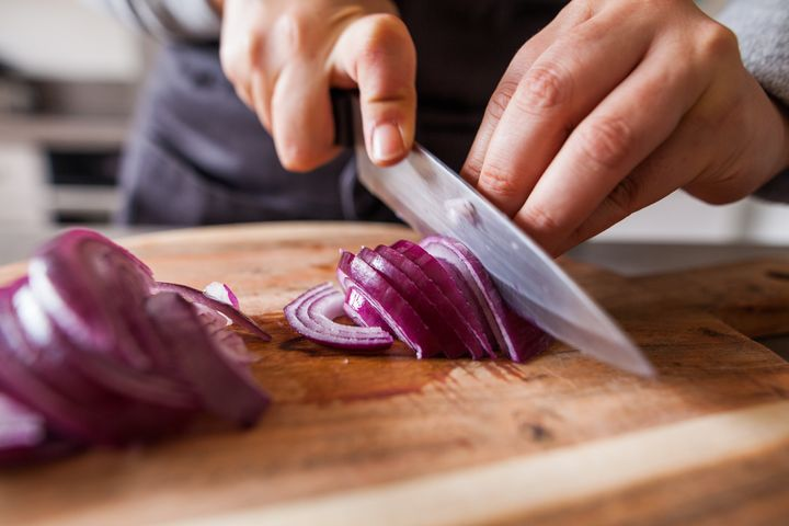 No more tears of frustration! Sharpen your knives and you'll find chopping to be a whole lot easier.