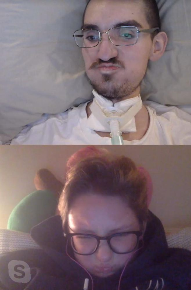 A selfie the author took while video chatting with Gabe in October 2017.