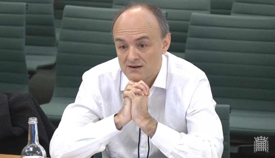 Dominic Cummings speaking at the Commons science and technology committee in