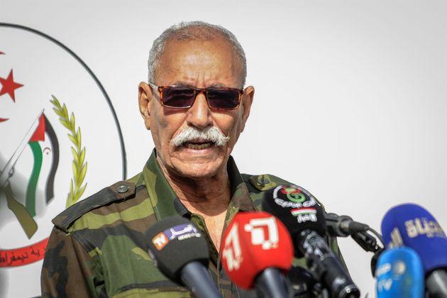 Brahim Ghali, secretario general del Frente Polisario, en una imagen de