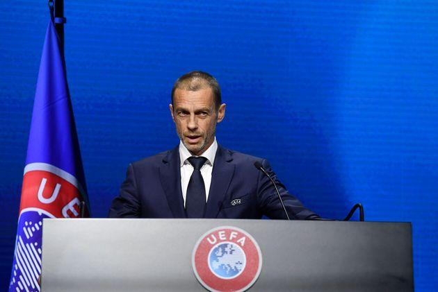 El presidente de la UEFA, Aleksander