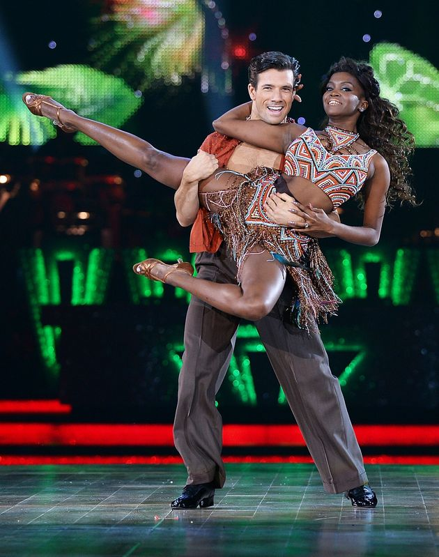 Danny Mac and Oti Mabuse performing on the Strictly live