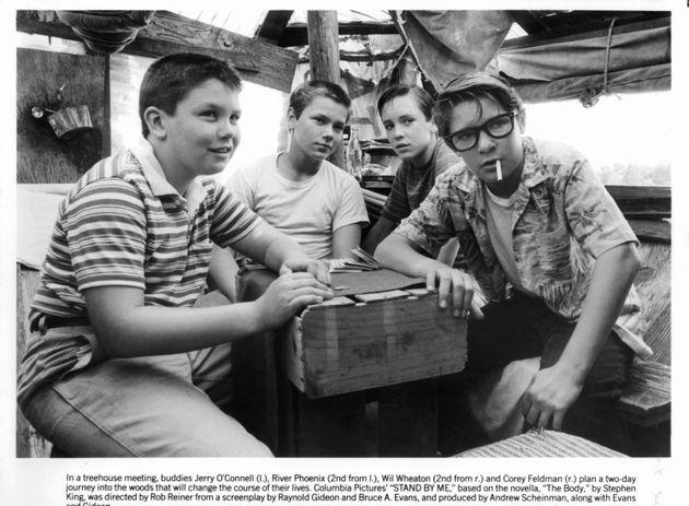 1986年公開の『スタンド・バイ・ミー』。左から2番目がリバー・フェニックス演じるクリス