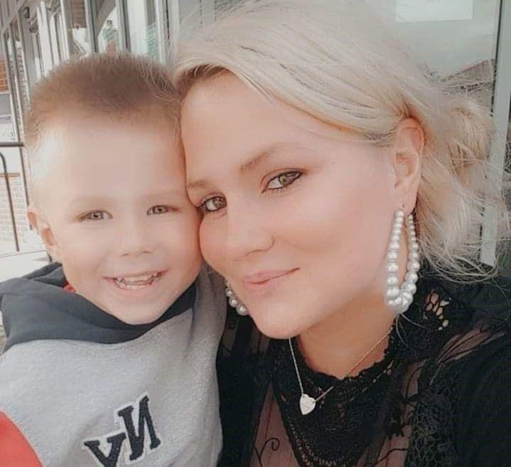 Billie-Jo Redman with her son Roman