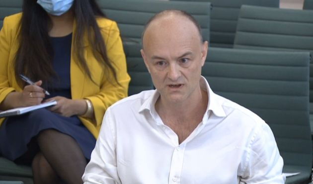 Dominic Cummings, former Chief Adviser to Prime Minister Boris Johnson, giving evidence to a joint inquiry...