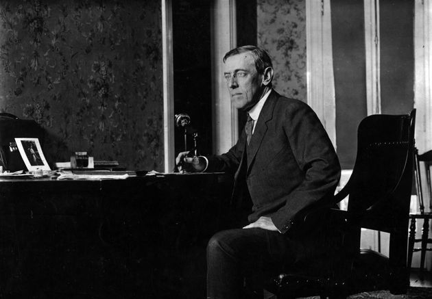 circa 1916: Woodrow Wilson (1856 - 1924) the 28th President of the United States of America. (Photo by...
