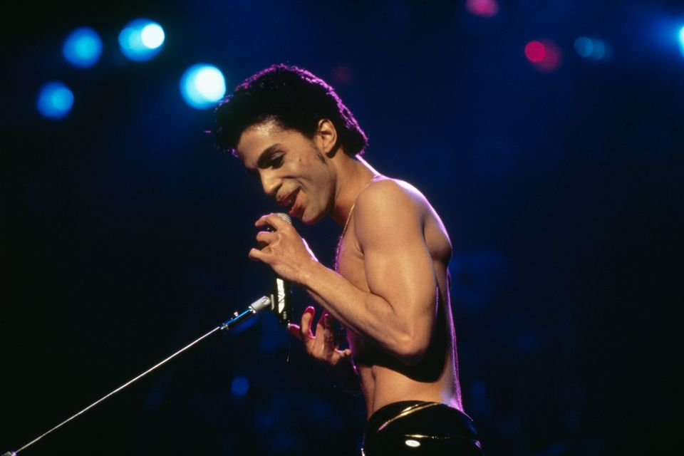 Prince performing live in