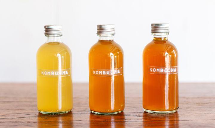 Botellas de kombucha