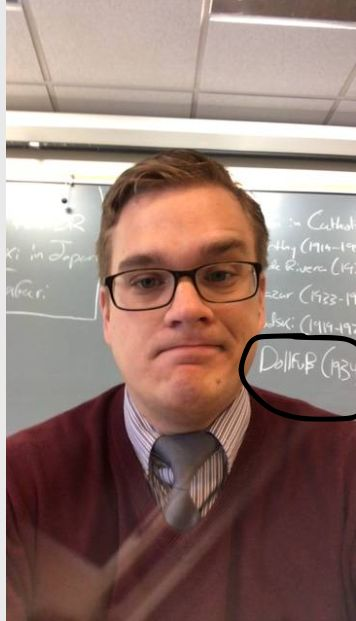 White nationalist teacher Benjamin Welton in a since-deleted photo from the Faculty section of Star Academy's...