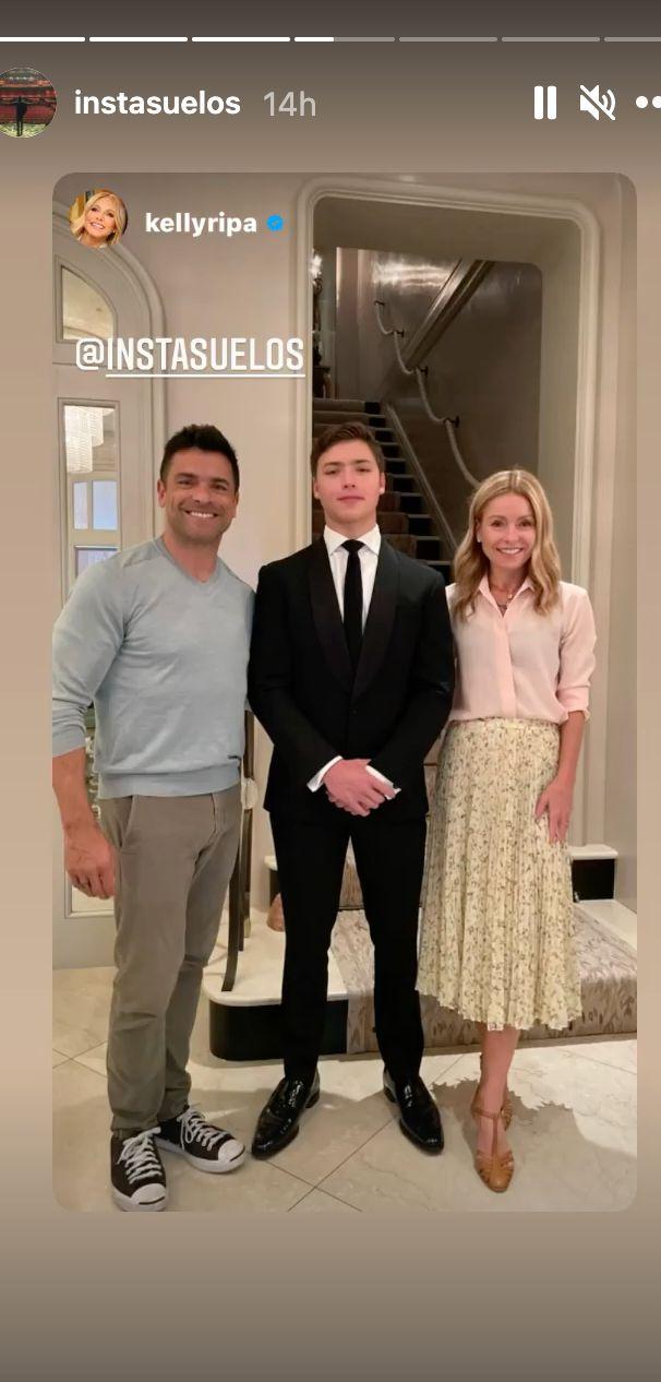 Mark Consuelos and Kelly Ripa beam with pride over Joaquin.