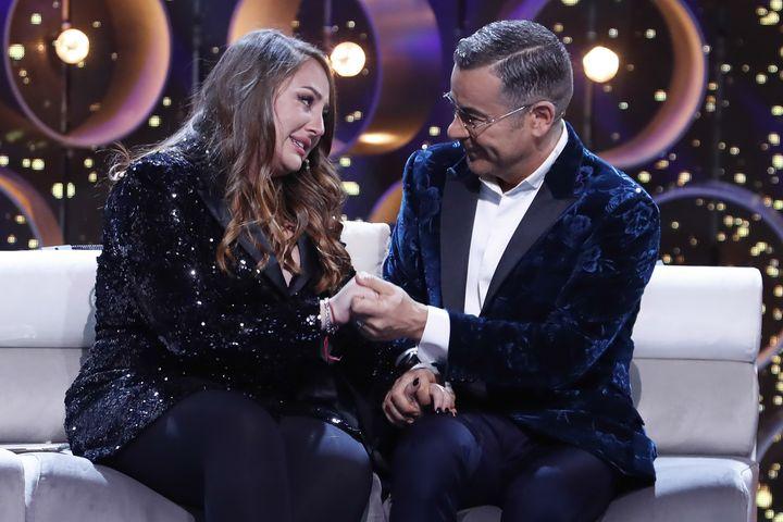 Rocio Flores Carrasco y Jorge Javier Vazquez en una de las galas de 'Gran Hermano VIP'.
