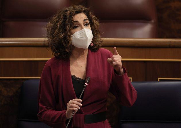 La ministra de Hacienda y portavoz del Gobierno, María Jesús Montero, interviene en el