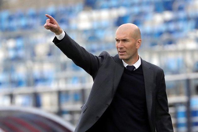 El entrenador francés del Real Madrid, Zinedine