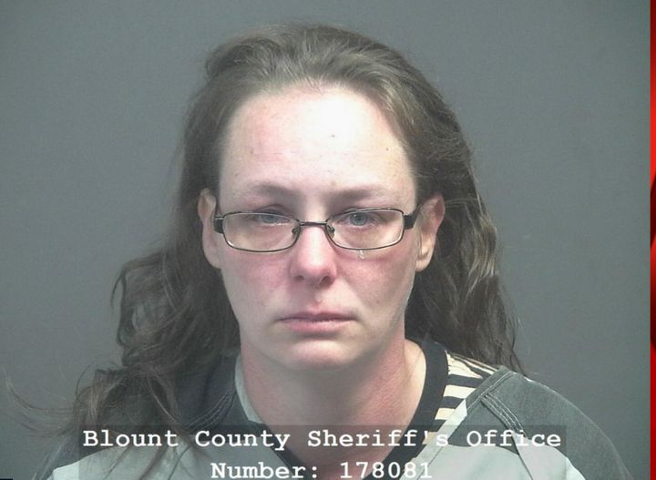 Virginia C. Brown was arrested Monday after she drove her car through a vaccination site.