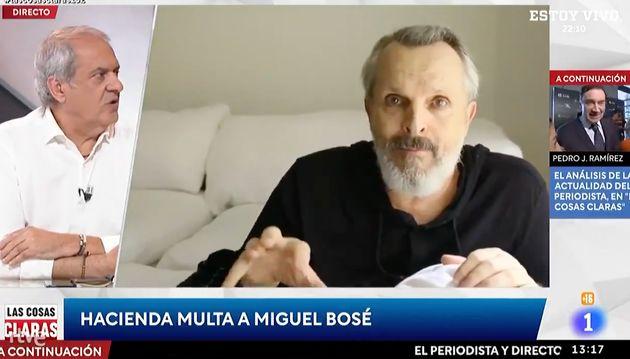 Javier Aroca hablando de Miguel Bosé en 'Las cosas claras', de