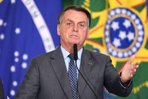 El presidente de Brasil, Jair Bolsonaro, interviene en un