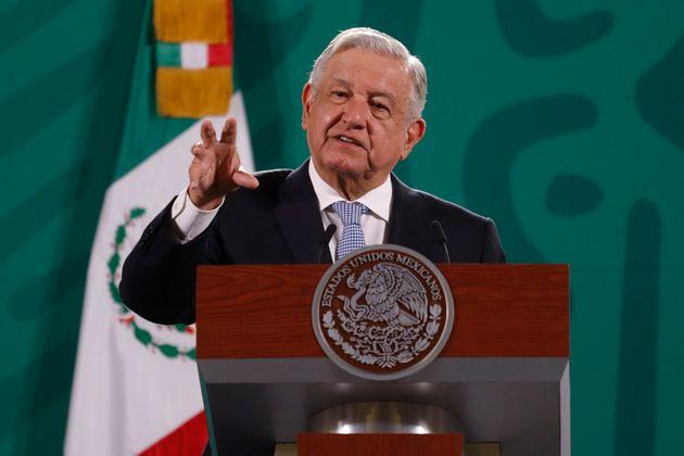 El presidente de México, Andrés Manuel López Obrador, en una rueda de prensa en...