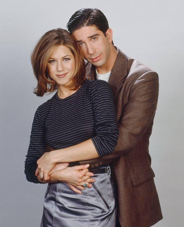 Jennifer Aniston and David Schwimmer as Ross and Rachel in