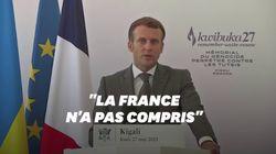 """Au Rwanda, Macron demande aux victimes du génocide de """"faire le don de nous"""