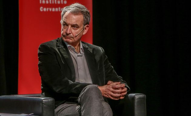 El expresidente del Gobierno de España, José Luis Rodríguez Zapatero, en un coloquio sobre