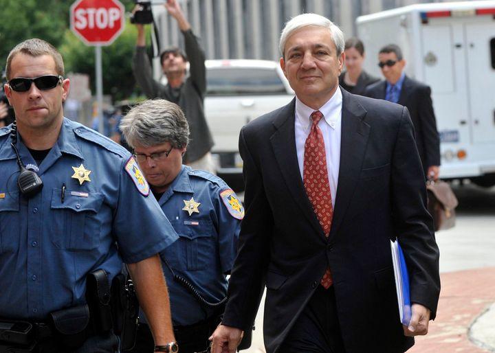 Former Penn State president Graham Spanier, seen in 2013, will begin serving a two-month jail sentence in July for endangerin