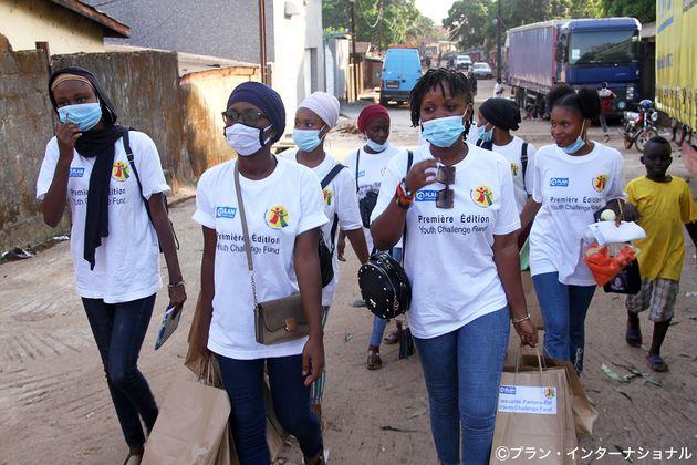 新型コロナウイルスに関する意識啓発活動(ギニア)