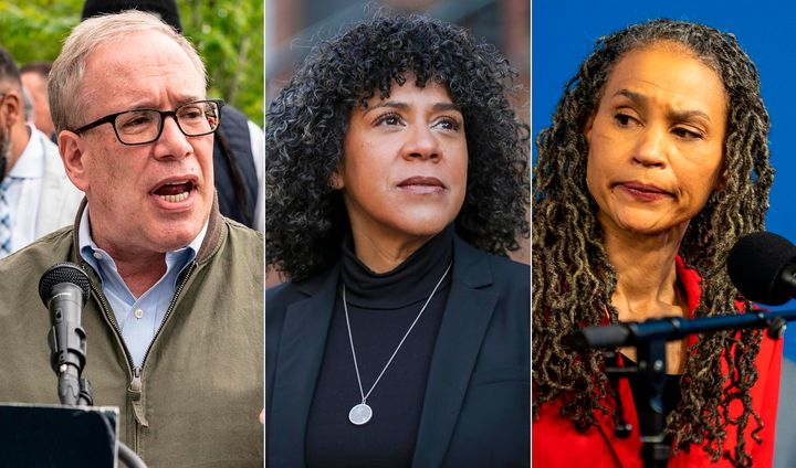 From left to right: Progressive mayoral candidates Scott Stringer, Dianne Morales and Maya Wiley. Despite NYC's progressive t